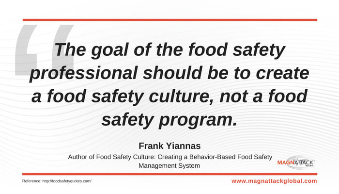 Safety Quotes | Qotw Food Safety Culture Frank Yiannas Magnattack Global Blog