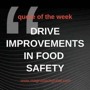 QOTW - Drive Improvements In Food Safety