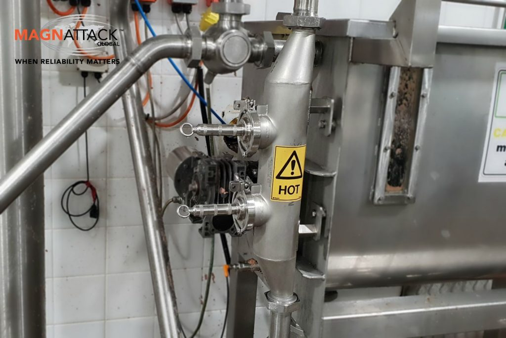The RE80®HT ESPS installed at a pet food manufacturing plant as part of final food safety controls