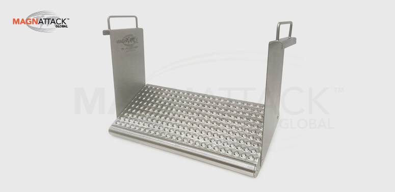 The Magnattack Dimple-Mag Plate Magnet is a great choice for extracting metal fragments from wine product